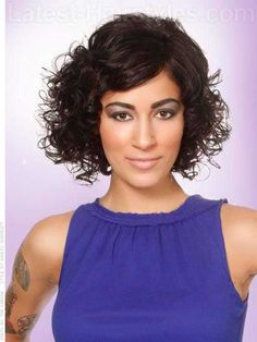 Stunning curly short hair ideas for women //  #Curly #Hair #Ideas #Short…