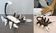 Students created, Scorpion Hexapod, a 3D-printed robotic scorpion that is designed with natural movements and responds to interactions. Its tail will also attack and leave a mark on its prey.