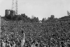 The crowd at the Valley in 1974 to watch The Who - photo by Chris Keegan from UK Rock Festivals