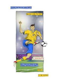 I am Zlatan. I Am Zlatan, Football Art, Baseball Cards, Illustration, Fictional Characters, Random, Ideas, Sports, Illustrations