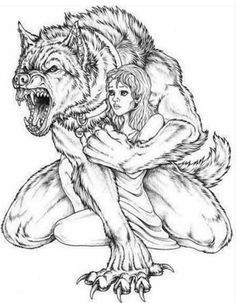 Werewolf Sketches Drawings Sketch Coloring Page Werewolf Tattoo, Werewolf Art, Werewolf Drawings, Dark Fantasy Art, Dark Art, Drawing Sketches, Art Drawings, Drawing Ideas, Wolf Artwork