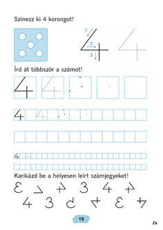 Mozaik Számvázoló 1 - Kiss Virág - Picasa Webalbums Cursive, In Kindergarten, Karma, Alphabet, Preschool, Teaching, Activities, Writing, Grade 1