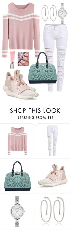 """""""Untitled #1390"""" by naviaux ❤ liked on Polyvore featuring adidas, Kate Spade, Jennifer Fisher and Beauty Rush"""
