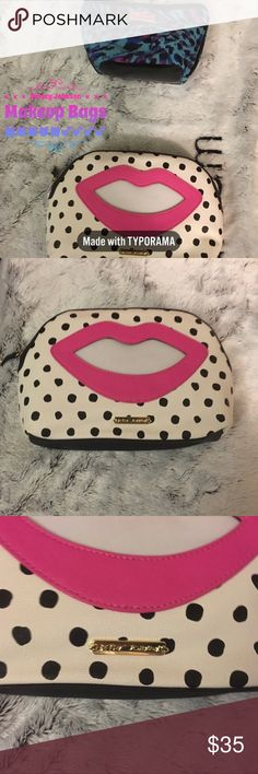 Betsey Johnson-💄Makeup 💄 & Cosmetic Bags Bundle Sale 2 for $35 oh my 🙀🙀🙀🙀  Beautiful must have Spring Betsey Johnson Cosmetic Makeup bags 💕💕💕💕 Betsey Johnson Bags Cosmetic Bags & Cases