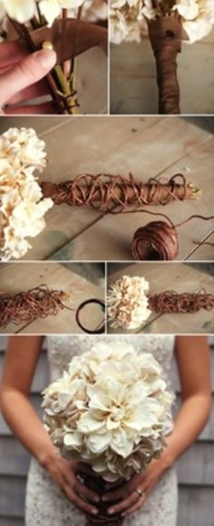 DIY wedding bouquet - part 2
