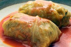 Crockpot Stuffed Cabbage Rolls. They're so good!!  #crockpot #stuffedcabbagerolls #cabbagerolls