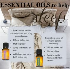 essential oil blends for great sleep! serenity balance mydoterra.com/kendragoodnight
