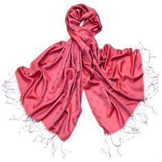Etole foulard rose framboise pois soie viscose 1cf2fed6732
