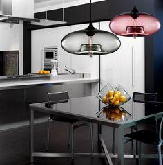 Ceiling Lights - Pendant Lights - Modern Glass Pendant Light in Blue Bubble Design