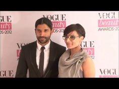 Farhan Akhtar and his wife at VOGUE BEAUTY AWARDS 2012.