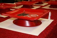 Pre-K Graduation Party: Mortarboard Plates