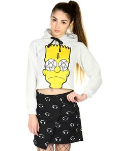 POSESSED BART CROP SWEATER at Shop Jeen - SHOP JEEN
