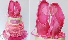 Ballet shoes tutorial by Peggy Does Cake