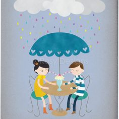 Día lluvioso amor
