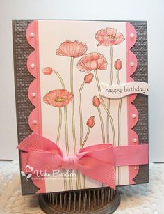 Pleasant Poppies / stampin up