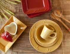 These are my dishes...now I want the square one:)  Sorrento Collections - Casual & Colorful Dinnerware