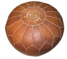 Moroccan Leather Pouf | Salt & Sundry