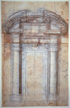Michelangelo, Study for the Porta Pia, 1561
