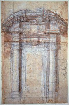 Michelangelo, Study for the Porta Pia, 1561