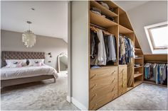Little Miss Homes - Little Miss Homes - Bedroom Complete. London Bedroom, Loft Bedroom, Loft Extension, London Property, Walk In Wardrobe,  Farrow & Ball, Cornforth White.                                                                                                                                                                                 More