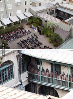 A wedding photographer took this from a rooftop, later something seemed odd, this is what he saw when he zoomed in..