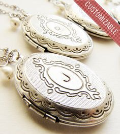 Oval Locket Initial Necklace » This is such a pretty locket.