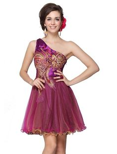 Reminds me of your tattoo!  HE03607PP06, Purple, 4US, Ever Pretty Cheap Sexy Short Prom Dresses 2014 03607
