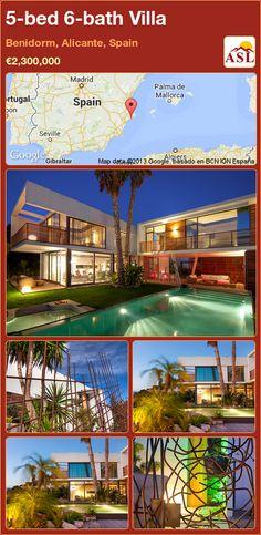 5-bed 6-bath Villa in Benidorm, Alicante, Spain ►€2,300,000 #PropertyForSaleInSpain