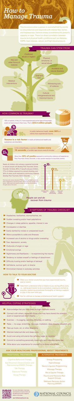 Trauma Infographic Repinned by Kimberly Seelbrede LCSW, PLLC  www.kimseelbrede.com