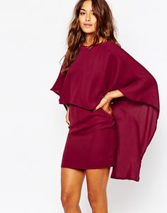 Image 2 ofMissguided Cape Back Bodycon Dress