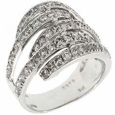 2.00 Ct IGL Certified G VS Round Brilliant Diamonds Cocktail Ring 14K White Gold #Cocktail #IGL #Certified #Diamonds #Ring #Band #14K #White #Gold #Christmas #Holiday #Gift