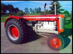 The 1961-1962 Massey Ferguson 95 Super. It was a Minneapolis Moline GVI with an MF grille, paint, and decals. Available in Gas, LPG, or Diesel, and also in four wheel drive versions.