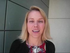 """Knight Commission co-chair Marissa Mayer speaks about the changing """"atomic unit"""" of media consumption at a Knight Commission meeting at the…"""