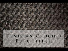 Tunisian Purl Stitch <3