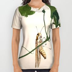 Buy Grasshopper on Gourd Vine All Over Print Shirt by artysmedia. Worldwide shipping available at Society6.com. Just one of millions of high quality products available.
