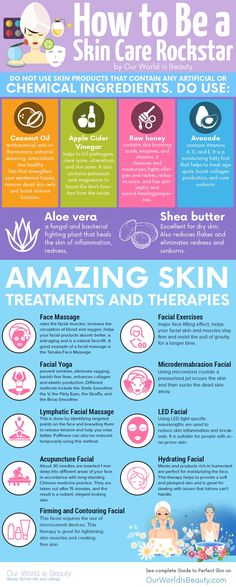 healthy skin infographic - Rock your skin care with the complete guide on Our World is Beauty: http://ourworldisbeauty.com/complete-skin-care-guide/ #beauty #skincare