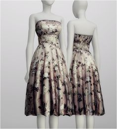 S4 _Strapless Floral embroidered silk-blend dress by Alexander McQueen (5 color) : 네이버 블로그