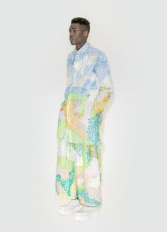 KA WA KEY offers a shifted concept of gender through pastel colorways and flowing silhouettes
