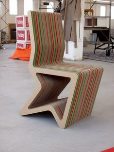 Cardboard Furniture Design For Unique Chair