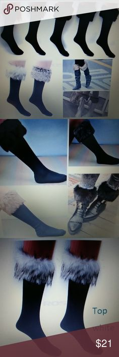 Fur boot socks Winter snow socks with synthetic fur boot socks to wear with winter boots comes in different colors Accessories Hosiery & Socks