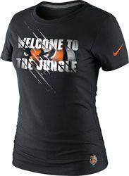 Cincinnati Bengals Women's Black Nike Women's Local T-Shirt $27.99 http://www.fansedge.com/Cincinnati-Bengals-Womens-Black-Nike-Womens-Local-T-Shirt-_-1520037769_PD.html?social=pinterest_pfid22-31978