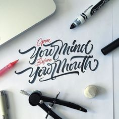 Work by @mdemilan #typography #betype #lettering #handlettering...