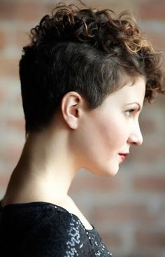 Shaved Haircuts with Short Wavy Hair - Balayaged Short HairstyleCredit  As if her undercut pixie wasn't edgy enough, she spices things up with a collection of vibrant and enchanting colors li