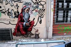 the best santa inspired street art work