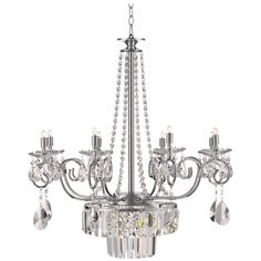 """Nobleton 27"""" Wide Clear Crystal Chandelier - Style # X8955"""