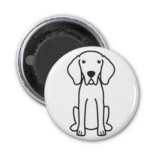 Weimaraner Dog Cartoon Magnet