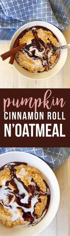 This easy Pumpkin Cinnamon Roll N'Oatmeal makes a delicious holiday alternative to oatmeal for breakfast snack or treat. Breakfast Snacks, Paleo Breakfast, Breakfast Bowls, Breakfast Options, Sin Gluten, Low Carb Recipes, Real Food Recipes, Whole30 Recipes, Free Recipes