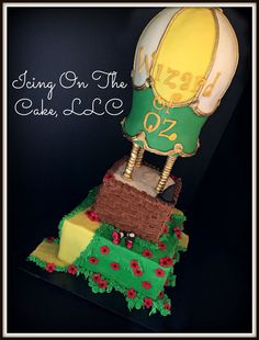 """""""We're off to see the Wizard!""""  Wizard of Oz themed birthday cake.   www.facebook.com/icingonthecake1"""