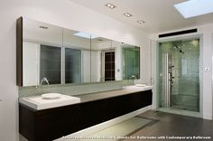 Recessed Mirrored Medicine Cabinets for Bathrooms with Contemporary Bathroom With