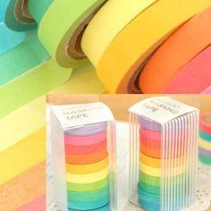 Rainbow washi tape pack $15